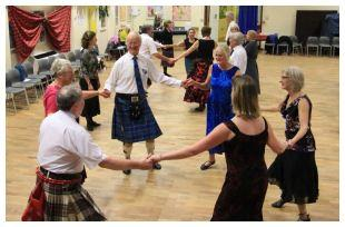 Scottish Country Dancing at a Christmas dance